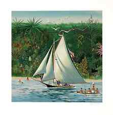 """Sally Caldwell-Fisher - """"Blown off Course"""", hand-signed serigraph"""