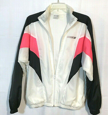 ef634ec34788 Vintage Nike Color Block Windbreaker Track Jacket M Full Zip Lined Womens