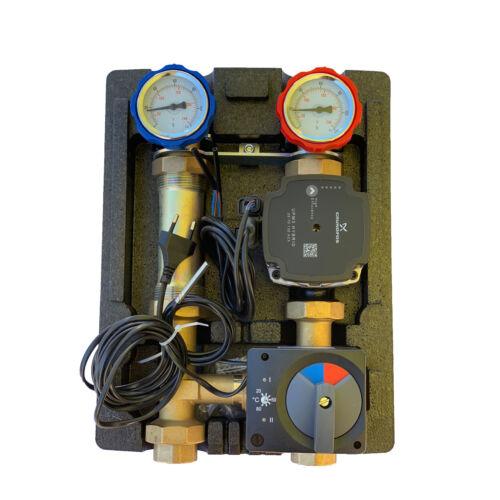 Pumpengruppe Heizung Fussboden Grundfos Heizkreisset Mischer 20-80°C Steuerung