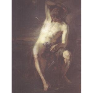 Egger-Lienz-Saint-Sebastian-Arrow-Martyr-Painting-Canvas-Art-Print-Poster