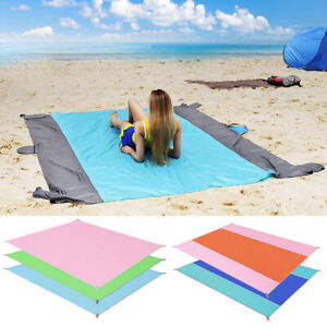 Sand Free Beach Mat Outdoor Picnic Blanket Rug Sandless Mattress Pad 79x82 inch