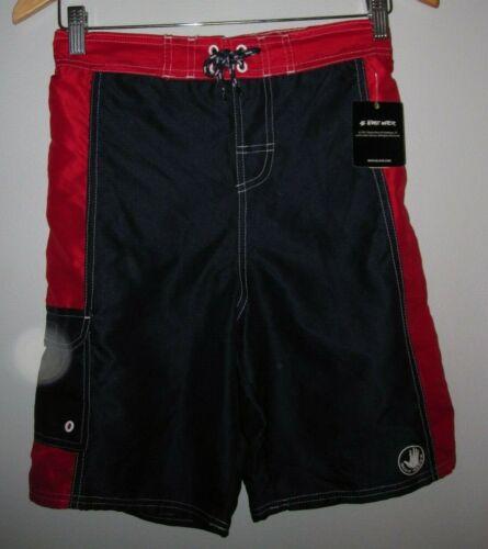 Swim Body ~ Nwt Upf Boys Red Pantaloncini 16 Trunks 14 Sz 50 Navy Glove fzwxwg
