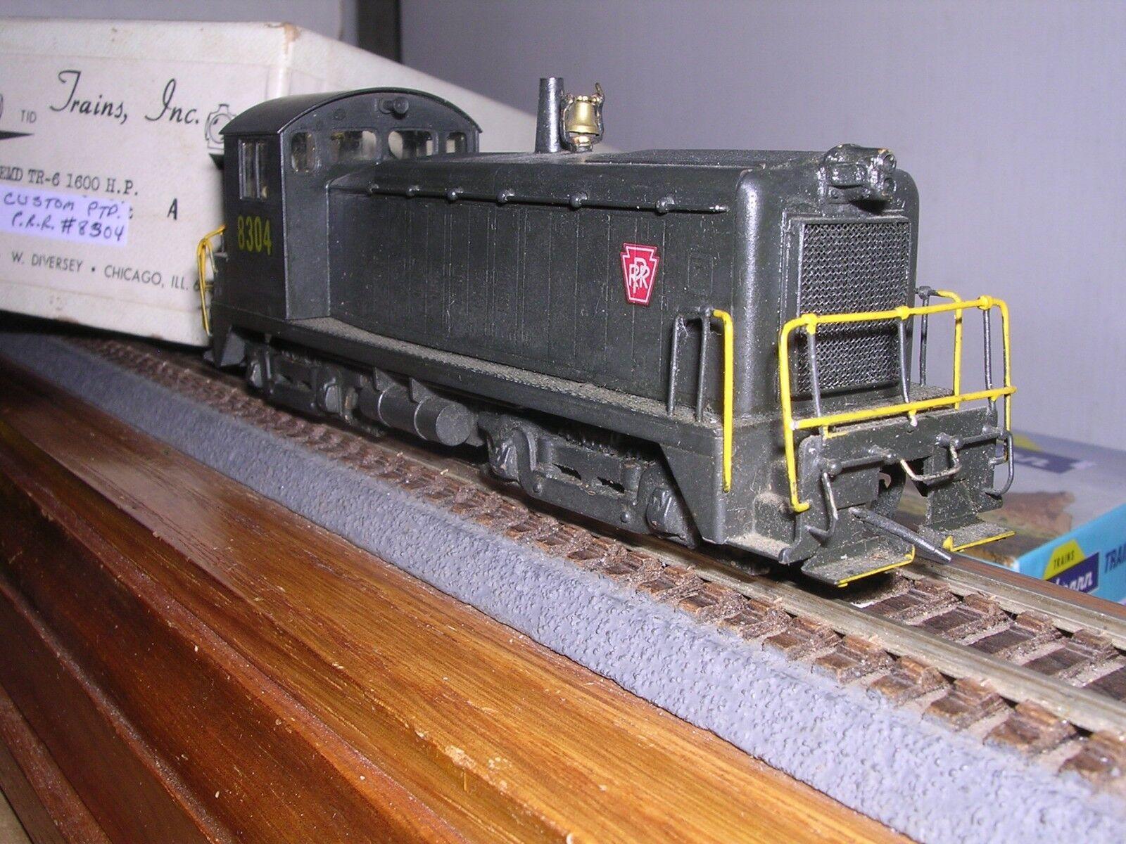 Trenes De Latón Inc P.R.R. EMD TR-6 1600 H.p. Diesel Loco 8304 interior pintado personalizado