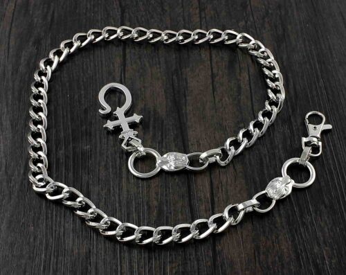 Silver Tone Metal Biker Trucker Punk Keychain Key Jean Wallet Chain W// Hook