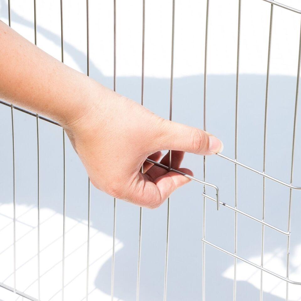 Kaninbur udendørs med sikkerhedsnet Ø 204cm