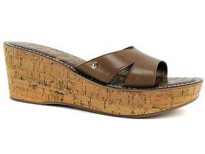 5ab6c6ccf734 Sam Edelman Women s Reid Platform Sandals Saddle Leather Slides Size ...
