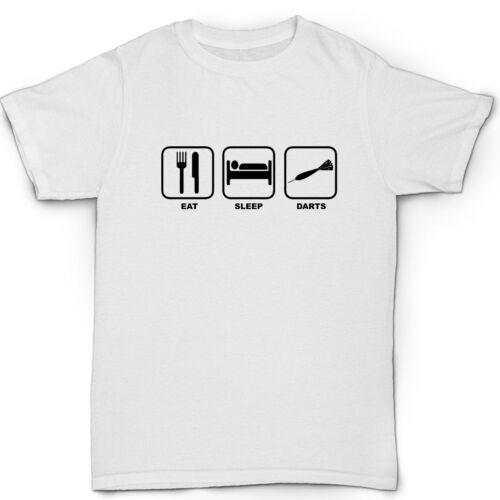 eat sleep darts men/'s t shirt funny humour birthday gift dartboard