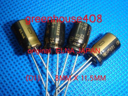 10pc ORIGINAL ELNA TONEREX Series Audio Electrolytic Capacitors 25V 100uF