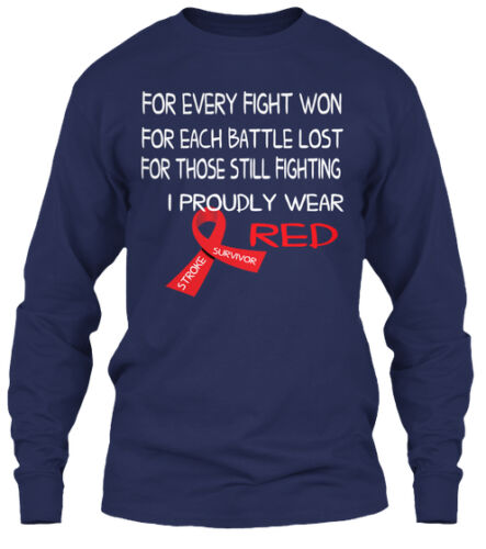 Stroke Survivors Awareness Gildan Long Sleeve Tee T-Shirt