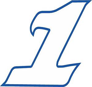 """x1 5/"""" Digit Race Numbers vinyl stickers Style 2 White MORE in  SHOP"""