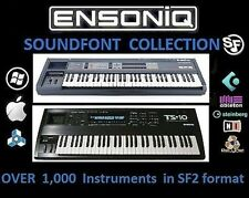 ENSONIQ SOUNDFONT SF2 Samples: 1,000 Ensoniq ASR EPS TS-10 Instruments