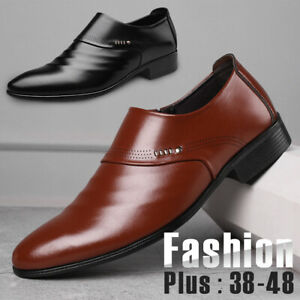 Men-039-s-Business-Formal-Dress-Shoes-Casual-Shoes-Oxfords-Leather-Loafers-Shoes-NEW