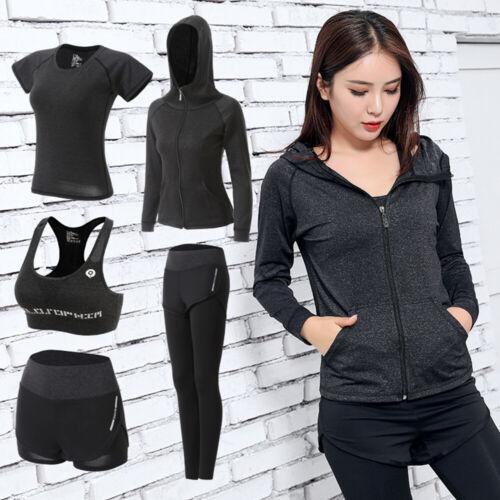 Women/'s Gym Fitness Jogging Workout Sport Suit Bra Leggings Shorts Tops Yoga Set