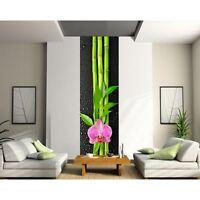Sticker Géant Trompe L'oeil Fleur Bambou 402
