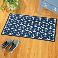 Nautical Theme Anchor Rug W/ Skid Resistant Backing 45l X 27w