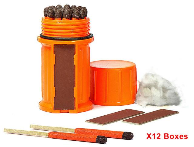 UCO Stormproof Matches Kit w/ Orange Waterproof Case 25pcs X12 Boxes