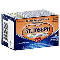 St. Joseph Pain Reliever, 81 mg, Enteric Coated Tablets, 36 ct. on Sale