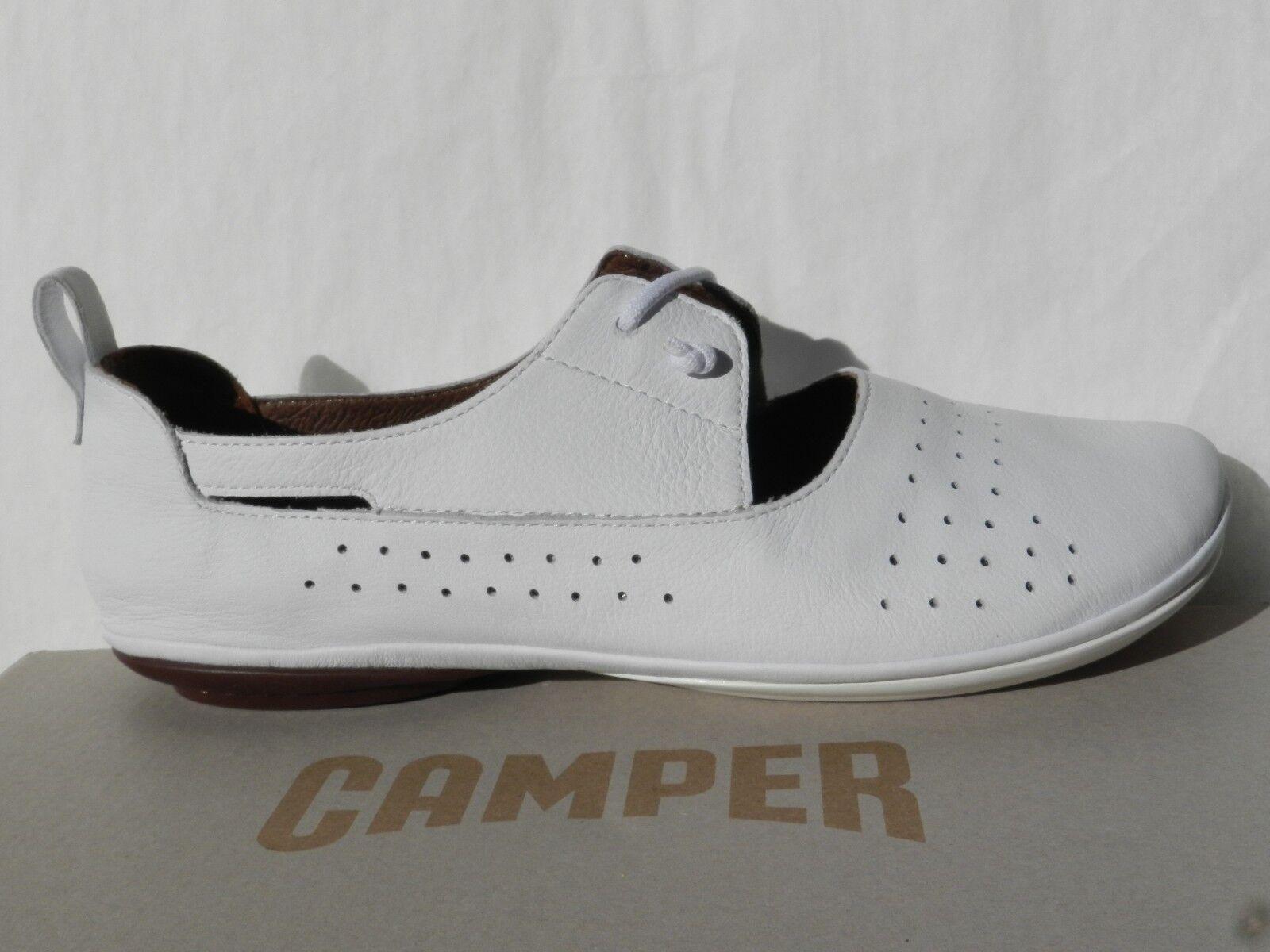 Camper Right Nina Sautope Donna 40 Btuttierine Bianco Slip in K200441 Nuovo UK7