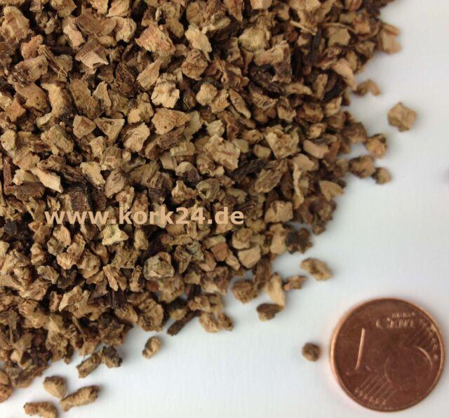 1 Liter Korkschüttung Terrariensubstrat für subtropische Reptilien Körnung 2-5mm