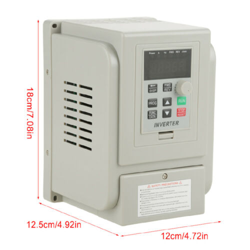 220V 2HP 1.5KW Single Phase To Three-Phase Output Frequency Converter VFD VSD