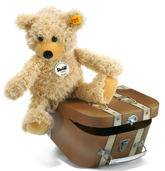 Steiff Charly Teddy Bear in Suitcase - washable, plush soft toy - EAN 012938