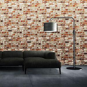 Muriva-Mezzanine-Rouge-Brique-Papier-Peint-102538-Neuf-Piece-Decor