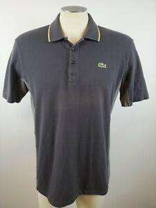 Men-039-s-Lacoste-Sport-Gray-Colorblock-Cotton-Short-Sleeve-Polo-Shirt-Ships-Free