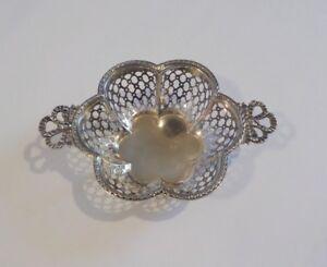"Antique J Wagner /& Son Sterling Silver Pierced BonBon//Candy Basket 2-5//8/"" #114"