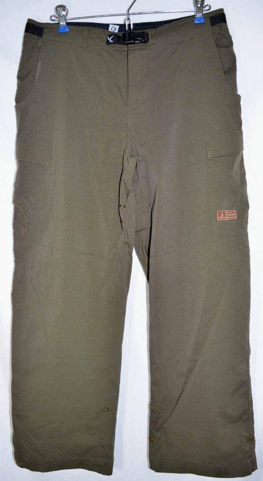 PrAna Breathe Cargo Pants Olive Green Roll-Up Men's Small