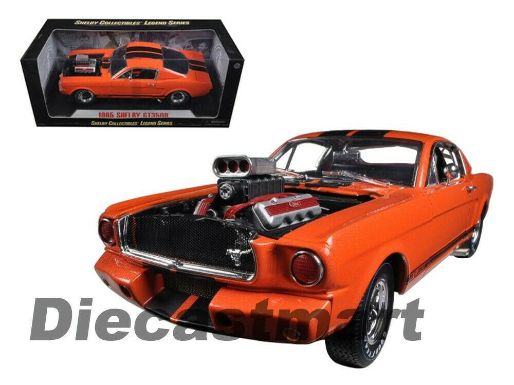 Shelby Collectibles 1:18 1965 Shelby GT350R with Blower Engine Orange SC514 Car