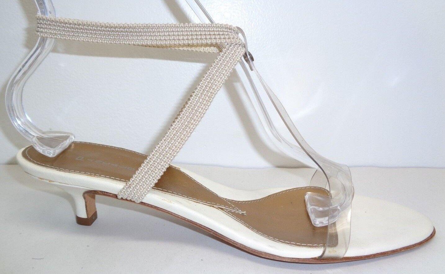 Pancaldi Taille 9.5 Eur 39.5 FB3412 Beige blanc Heels Sandals New femmes chaussures