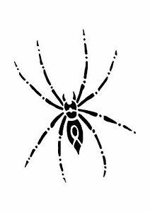 Spider-Tattoo-style-stencil-350-micron-Mylar-not-thin-stuff-TaT0022