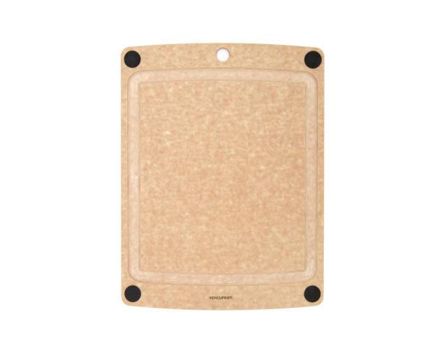 """Epicurean All-In-One Cutting Board, 11.5"""" x 9"""", Natural/Black Feet"""