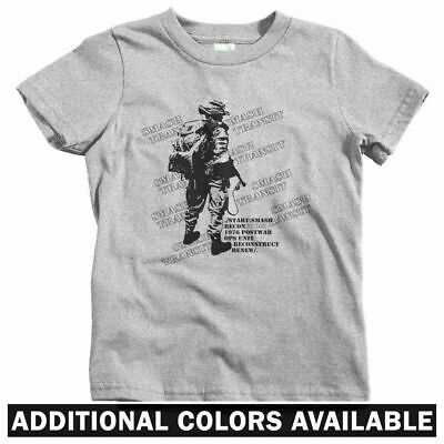 Recon Squad Kids T-shirt Military Army Marine War USA Baby Toddler Youth Tee
