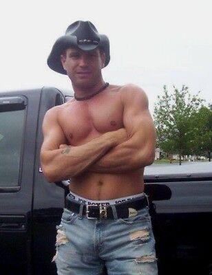 Shirtless Male Beefcake Muscular Country Hunk Fishing Muscle Man PHOTO 4X6 F1915