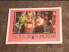 SODOM AND GOMORRAH 1963 LOBBY CARD #4 BIBLICAL SWORD AND SANDAL