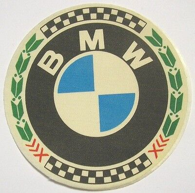 cm 8,5 VECCHIO ADESIVO MOTO in materiale telato Old Sticker Vintage BULTACO