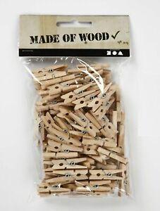 51025x Stück Mini Holzklammern Kleine Wäscheklammern Natur
