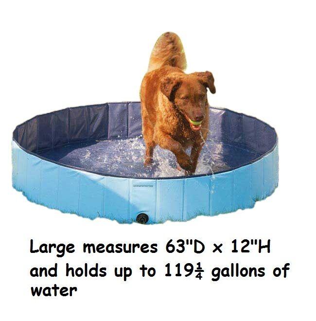 Cane Piscina extra Resistente Blu Blu Blu per più Grande Cani Splash Sollievo e4d84e
