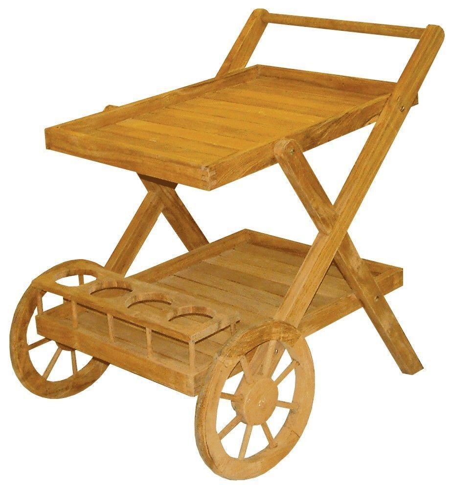 Teewagen Beistelltisch    Teakholz Gartenmöbel 1bca0d