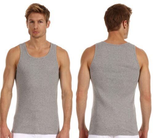 VINCE BRAND Casual  Slub Jersey Tank Solid Tank Top Men/'s Shirt Grey White