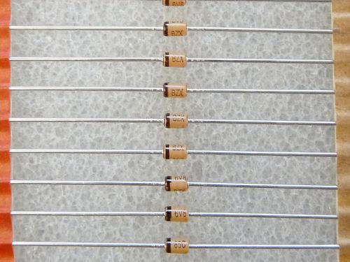 25 zener diodes bzx85c6v8 6.8v 1.3w