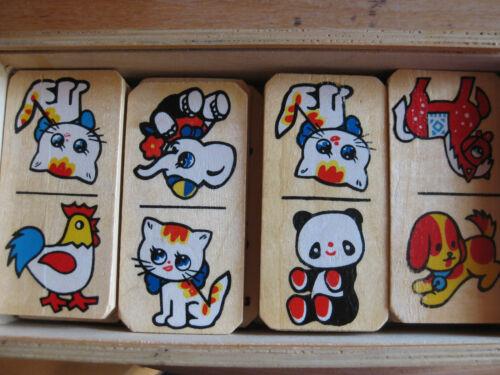 Holz Domino mit Holzschachtel *Tierdomino 23 Teile GESCHENK TOP Kinderdomino
