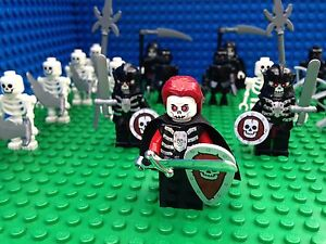 Lego Castle Skeleton Army Witch Queen Grim Reaper Armour Minifigs