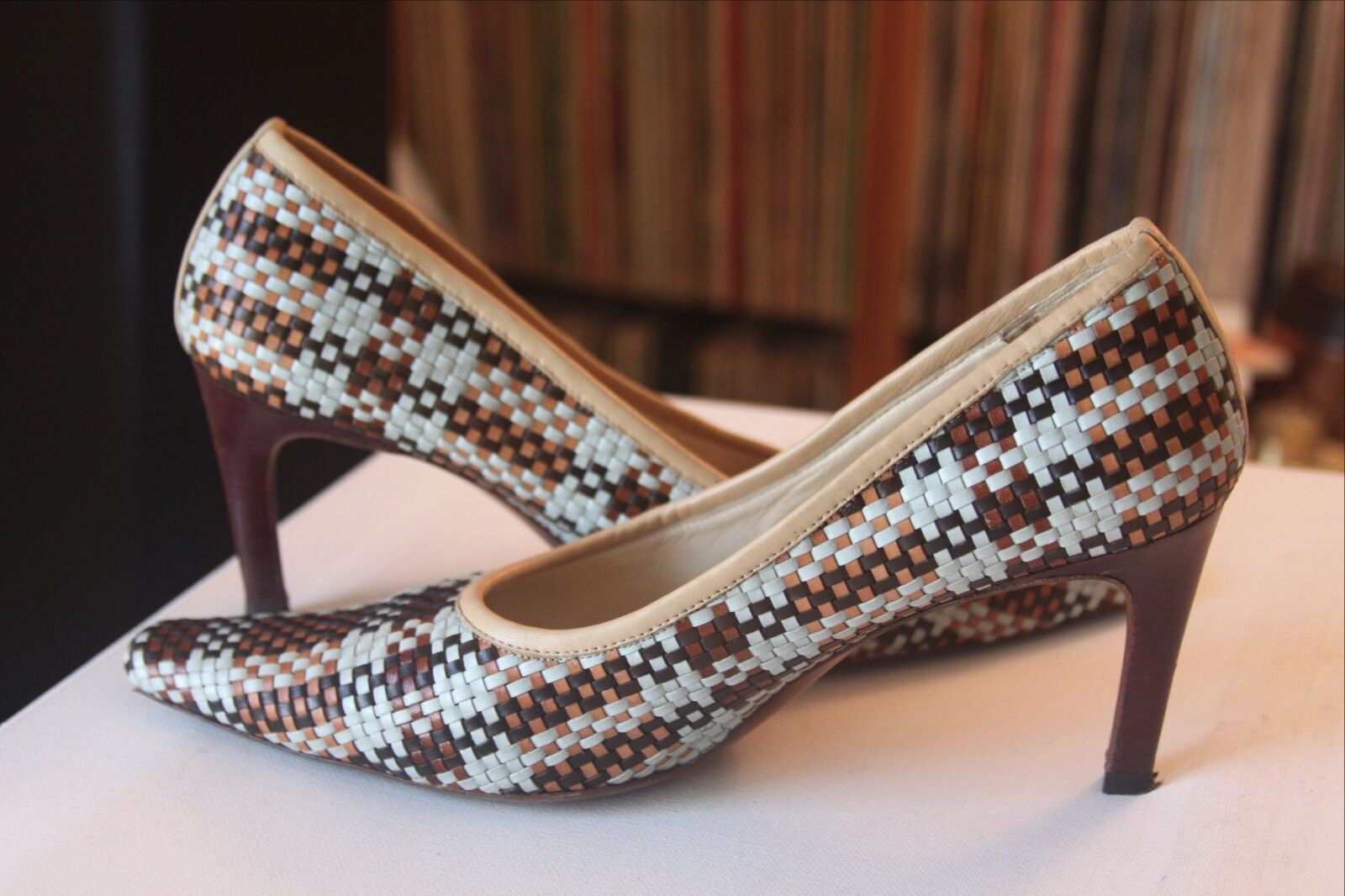 Mulberry England Multi Farbe Größe Leder Weave Pointed Heels Größe Farbe 40 Made In  163adf