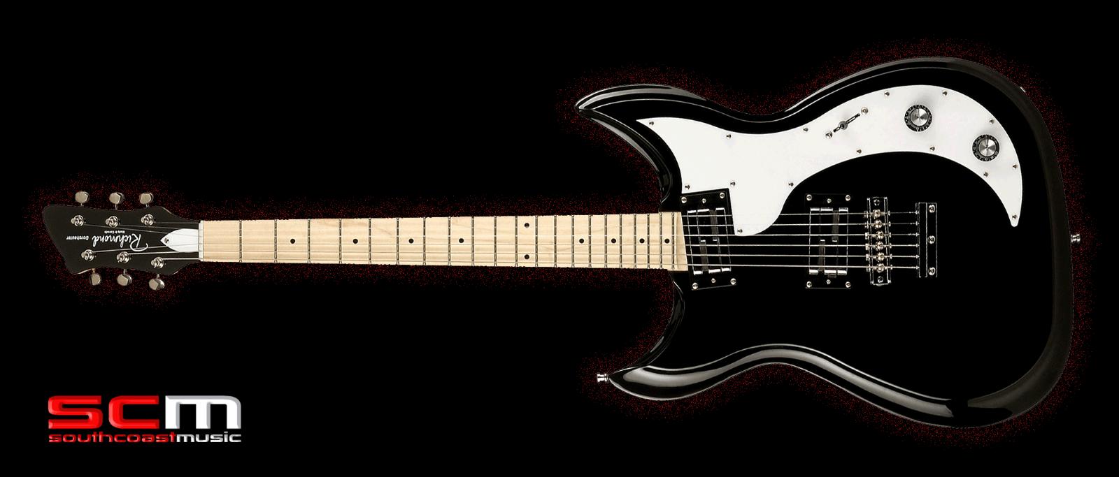 Richmond Dorchester Guitarra Eléctrica Negro Brillante Brillante Brillante de Arce fretboard  última  462881
