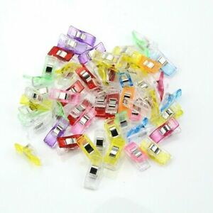 Plastic-Mini-Clips-Wonder-Sewing-Holder-Clamps-Knitting-Crochet-Tool-50Pcs-Clip