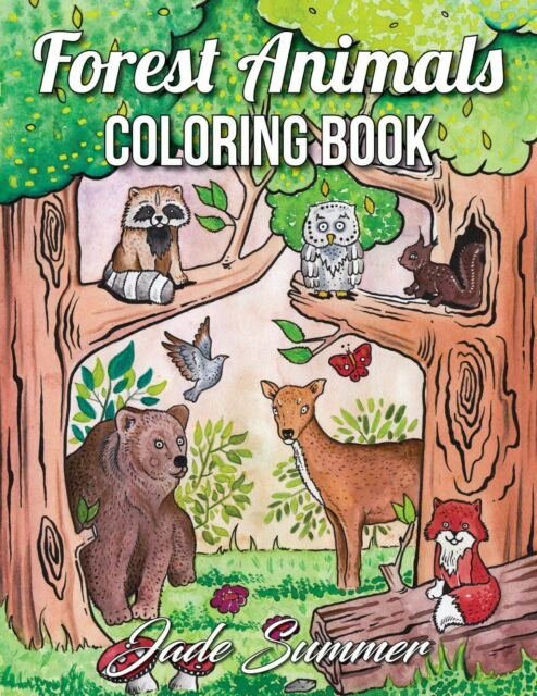 Forest Animals: An Adult Coloring Book by Jade Summer ...