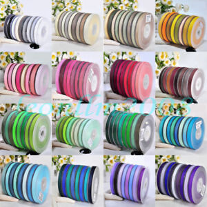 Double Sided Satin Ribbon 6mm 10mm 15mm 25mm 38mm Widths Full Rolls 10 Metres