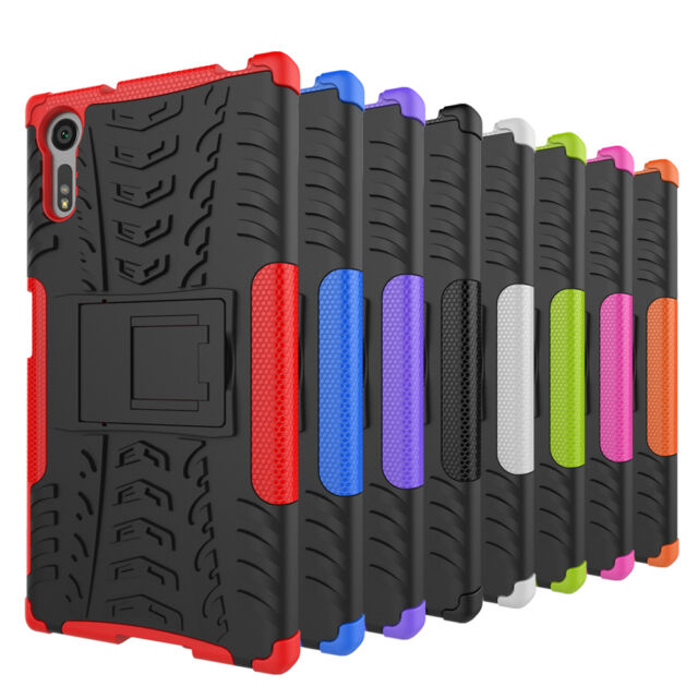 Dual Layer Shockproof Rugged Armor Hybrid Kickstand Case for Sony Xperia XZ